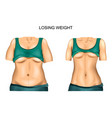 weight loss before and after vector image
