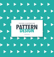 white triangle pattern on turquoise background vector image vector image