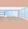 yoga studio healthy lifestyle concept empty no vector image