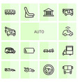 14 auto icons vector image vector image
