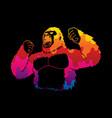 abstract angry king kong big gorilla vector image vector image