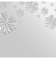 Abstract Background with Snowflakes vector image vector image
