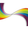abstract rainbow fresh wave vector image vector image