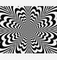abstract spiral black andwhitewith optical vector image vector image