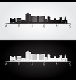 athens georgia usa skyline and landmarks vector image vector image