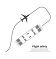 aviation safety icon vector image vector image