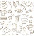 Baking Tools Seamless pattern Hand drawn vector image vector image