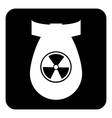 Bomb button vector image vector image