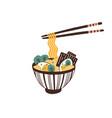 bowl traditional asian noodle soup ramen vector image