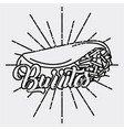 burritos mexican food traditional delicious retro vector image vector image
