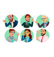 business people in a hole society behavior vector image vector image