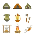 Camping Related Objects Set vector image vector image
