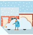 Car under snow vector image