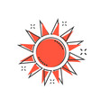 cartoon sun icon in comic style summer sunshine vector image vector image