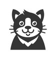 cat cartoon face icon vector image