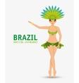 character garota brazil rio de janeiro design vector image