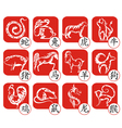 Chinese zodiac signs design vector image vector image