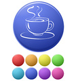 Coffee icons vector image vector image