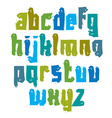 colorful hand-painted letters isolated on white vector image