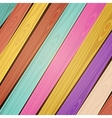colorful wooden background vector image vector image