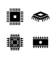 computer chips electronic circuit simple related vector image vector image