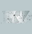 creative abstract polygonal background vector image vector image