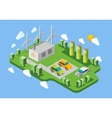 Electric cars charging station isometric banner vector image vector image