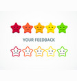 feedback or rating stars from positive to negative vector image