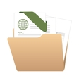 folder archives documents file vector image vector image