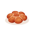 fresh loaf bread with sesame seeds bakery pastry vector image vector image