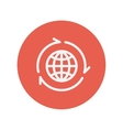 Globe with arrow around thin line icon vector image vector image