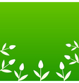 Green summer background with tulips vector image vector image