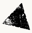 grunge isolated triangle vector image