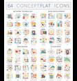 infographics concept icons of network technology vector image vector image