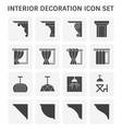 interior decoration icon vector image vector image