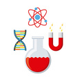 laboratory supplies design vector image vector image