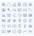 Line Development Icons vector image vector image