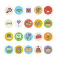 Love and Romance Colored Icons 3 vector image vector image