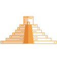 mayan pyramid isolated icon vector image vector image