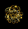 merry christmas gold glittering lettering vector image vector image