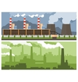 Metallurgical Plant and Power vector image vector image