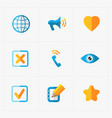 modern colorful flat social icons set on white vector image vector image