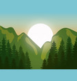 mountain landscape with forest design vector image vector image