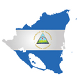 Nicaragua Flag vector image vector image