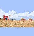 old farm house fall season background vector image vector image