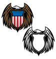 patriotic eagle with shield emblem vector image vector image