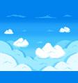 pixel art sky clouds 8-bit skyline retro video vector image vector image