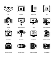Prototyping And Modeling Icons Set vector image vector image
