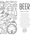 pub food and beer poster vector image vector image