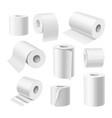 realistic toilet paper rolls kitchen paper towels vector image